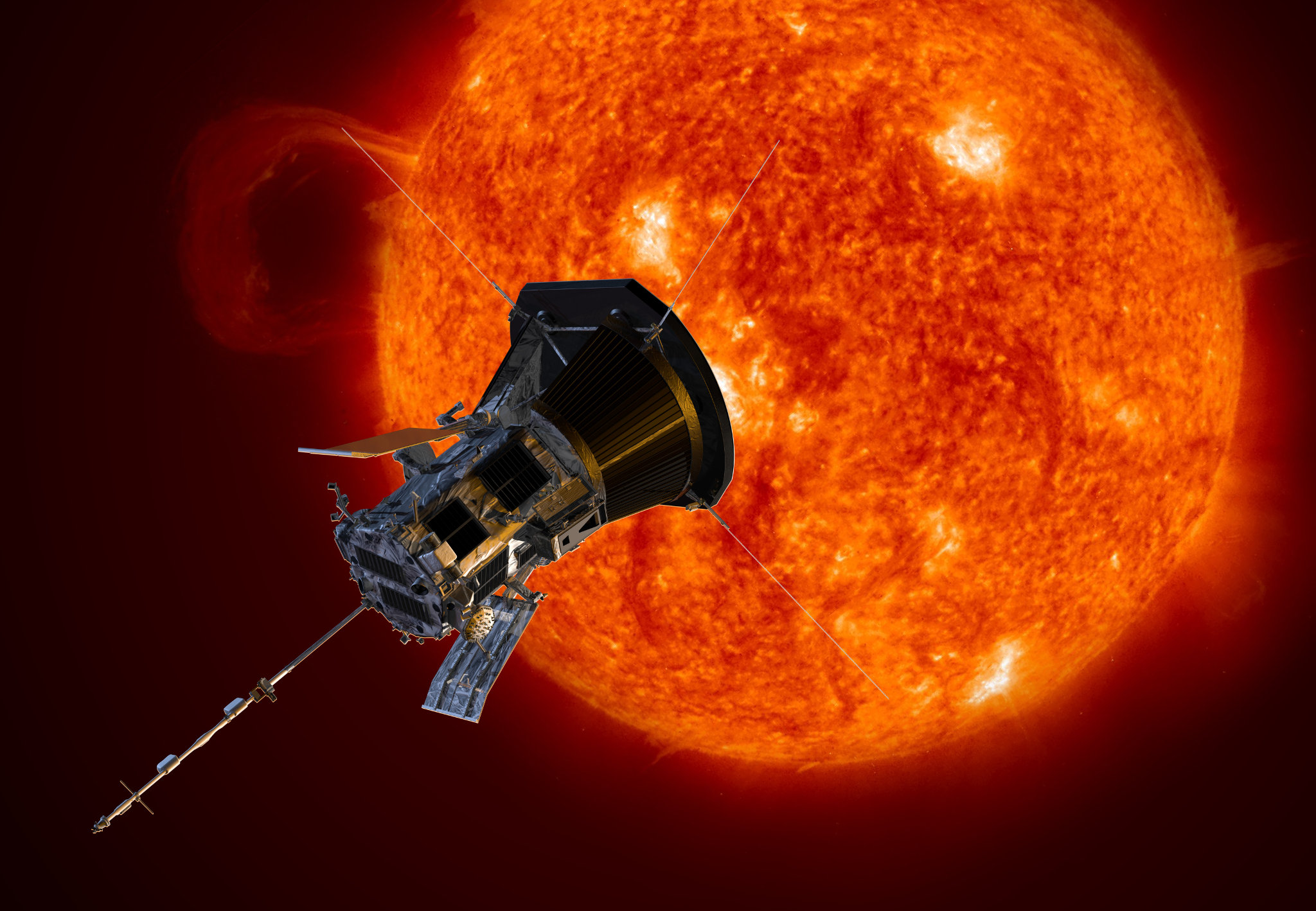 Parker Solar Probe (Creds: NASA/Johns Hopkins/Steve Gribben)